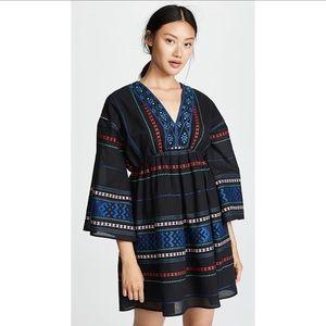 Joie Shada V-Neck Embroidered Knit Dress